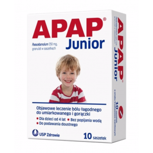 APAP JUNIOR, Granulat 250 mg, 10 saszetek
