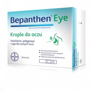 BEPANTHEN EYE, Krople do oczu - 20 x 0,5 ml